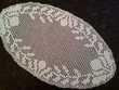 Napperon ovale (57cm) en coton blanc neuf - France - Napperon ovale (57cm) en coton blanc neuf... - France