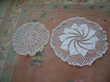 6 napperons ronds faits main coton blanc Décoration