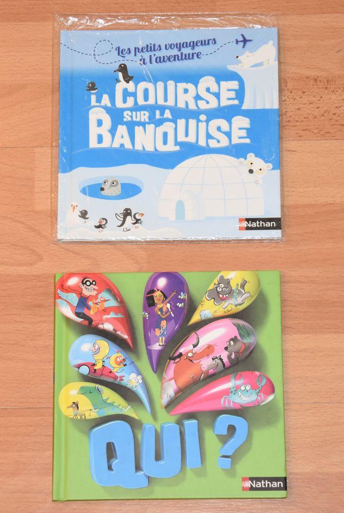 NATHAN.  2 livres enfants. Qui et La course sur la banquise. 2 Gujan-Mestras (33)