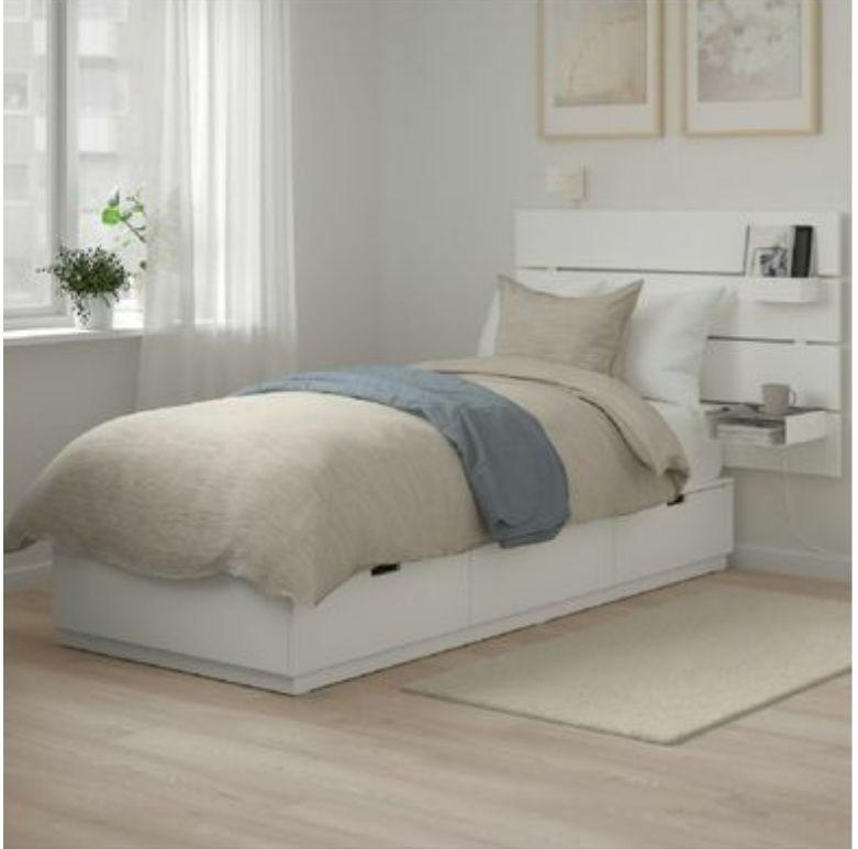 lit neuf bois massif blanc avec tiroirs 400 Euros. 400 Beausoleil (06)