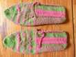 Neuf : paire de chaussons en laine