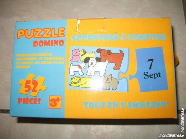 Neuf Puzzle Domino 52 pièces 7 Évry (91)