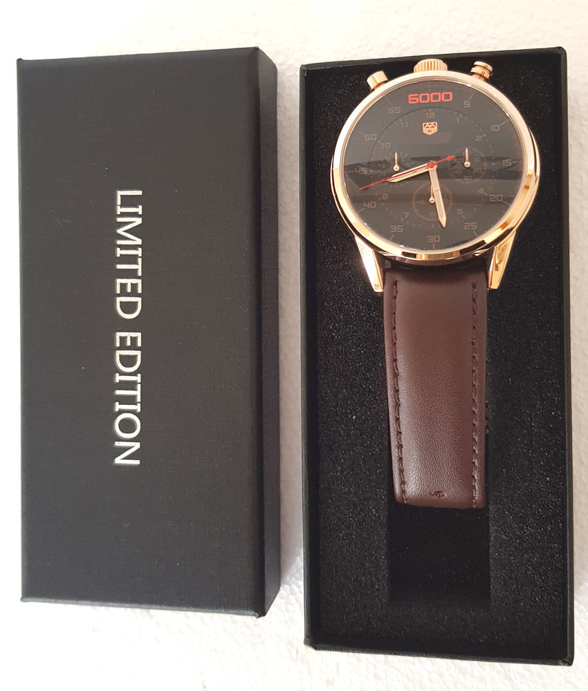 Neuve montre homme chronographe chronomètre or rose 85 Aubagne (13)