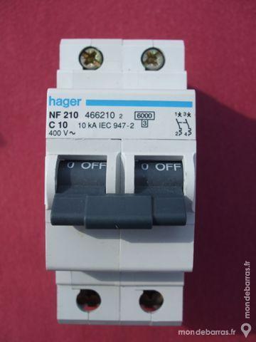 Réf NF210 OU NFN210 DISJONCTEUR HAGER 2P 10A 6kA C 30 Tergnier (02)