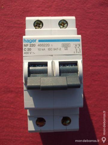 Réf NF220 OU NFN220 DISJONCTEUR HAGER 2P 20A 6kA C 30 Tergnier (02)