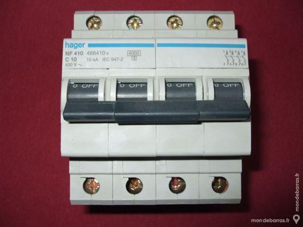 Réf NF410 OU NFN410 DISJONCTEUR HAGER 4P 10A 6ka C 90 Tergnier (02)