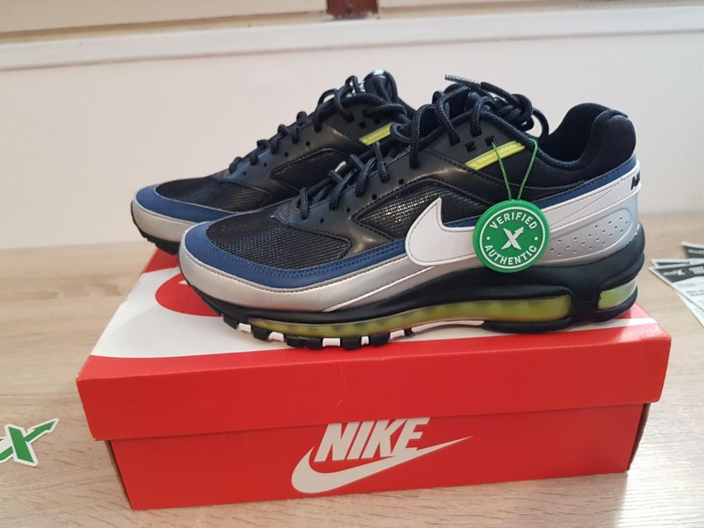 Nike Air Max 97 BW Black White Metallic Silver 41 EU 8 US Ne 179 Sens (89)