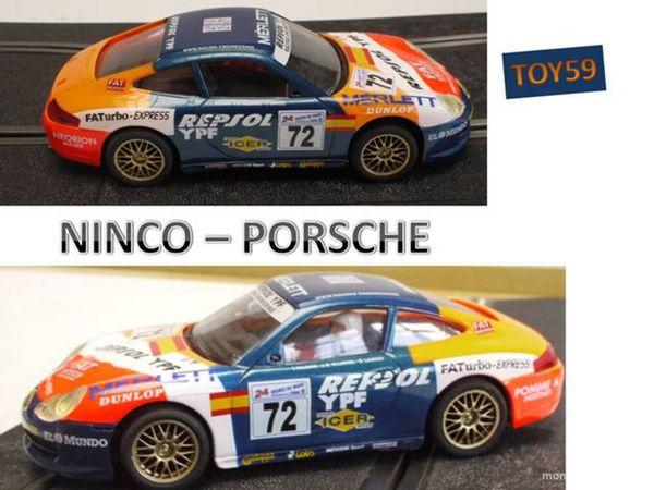 •Ninco slot car : PORSCHE GT3 - 1/32e - 30 Mons-en-Barœul (59)