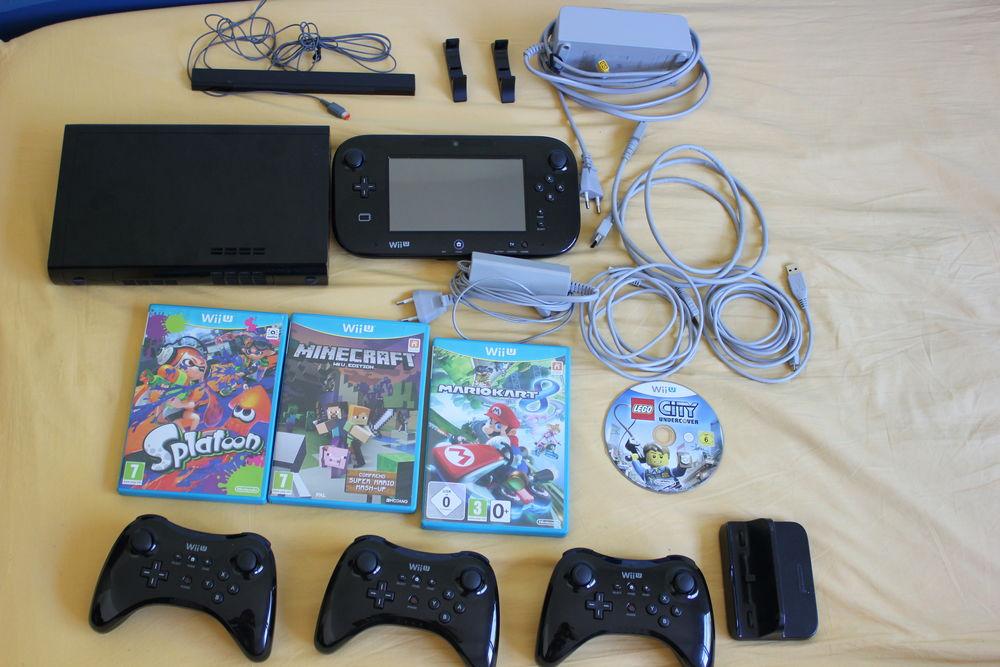 Nintendo wii u noir 32 go 4 jeux 3 manettes Consoles et jeux vidéos