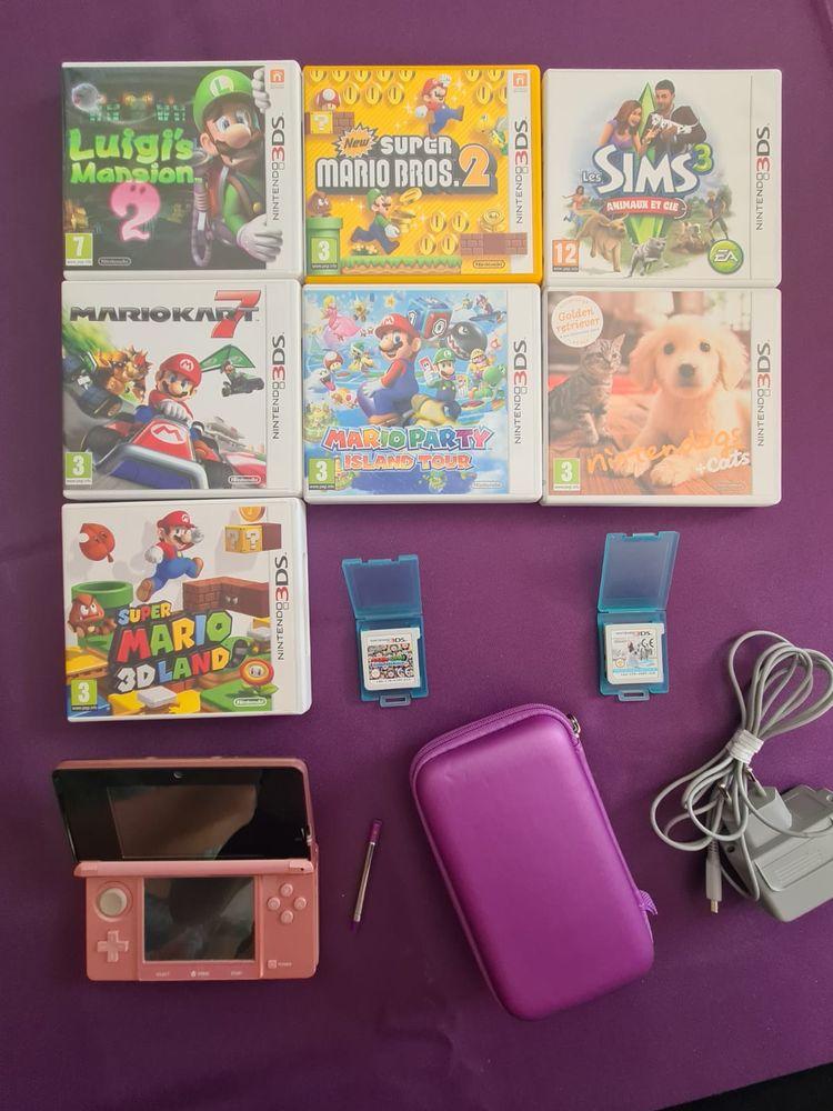 Nintendo 3ds rose  + jeux 0 Clamart (92)