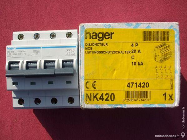 Réf NK420 OU NKN420 DISJONCTEUR HAGER 4P 20A C 110 Tergnier (02)