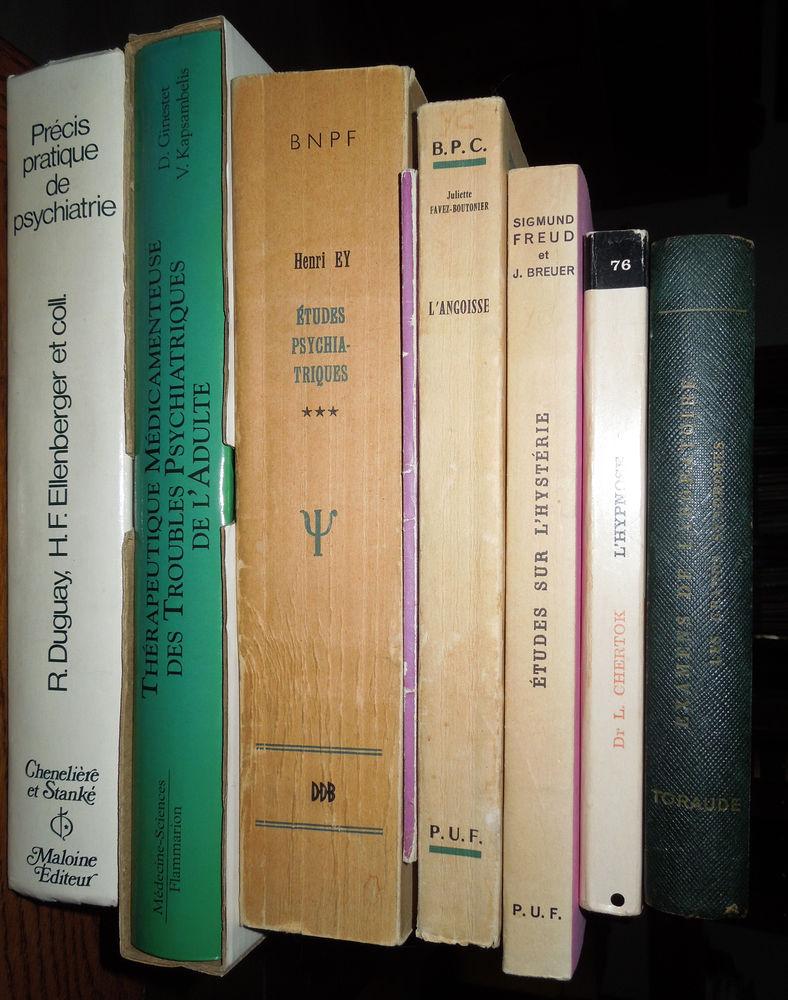 Nombreux livres d'étude sur la psychiatrie ,GRANDE BAISSE 1 Hem (59)