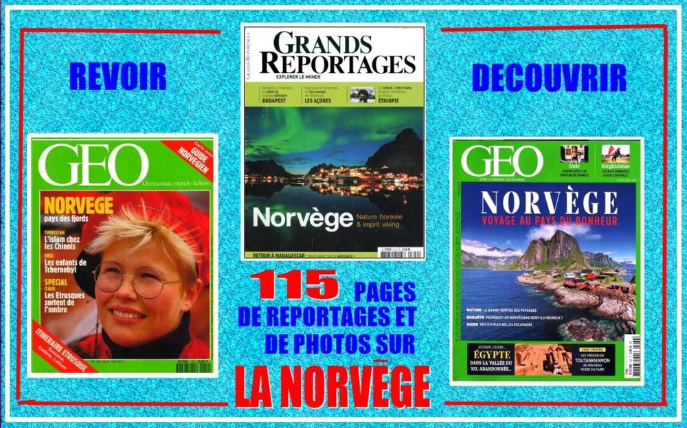 NORVEGE  - géo - SCANDINAVIE / prixportcompris 15 Lille (59)