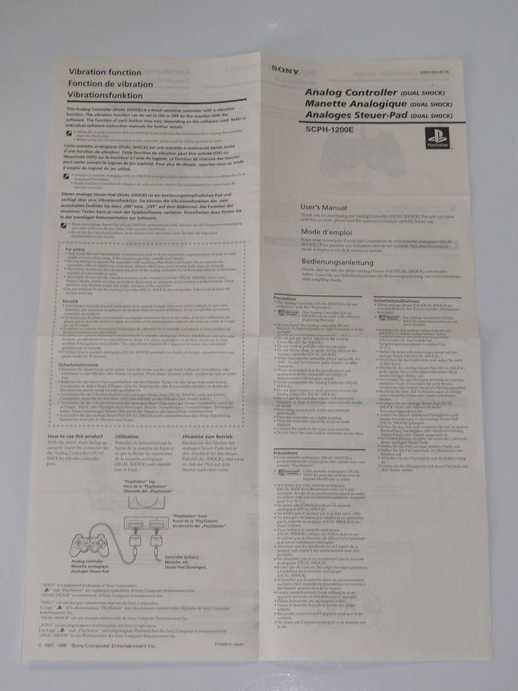 Notice manette (SCPH-1200E) Playstation 5 Saintes (17)