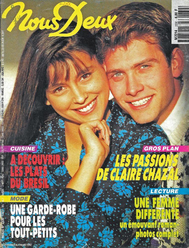 NOUS DEUX Magazine n°2330 1992  Claire CHAZAL  2 Castelnau-sur-Gupie (47)