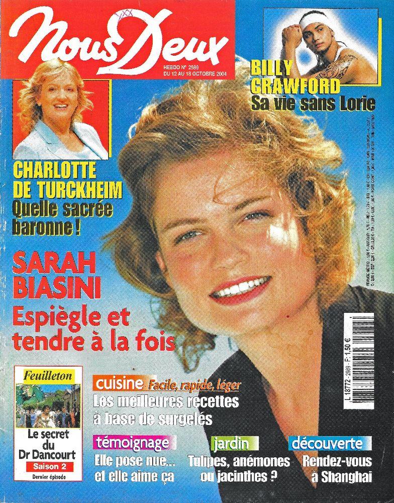 NOUS DEUX Magazine n°2989 2004  Charlotte DE TURCKHEIM  2 Castelnau-sur-Gupie (47)