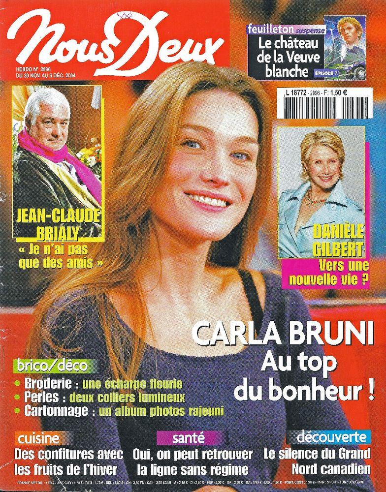 NOUS DEUX Magazine n°2996 2004  Carla BRUNI  2 Castelnau-sur-Gupie (47)