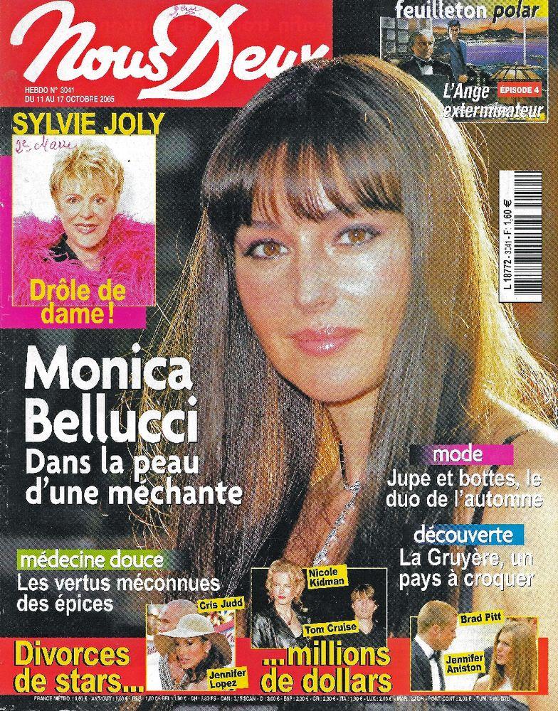 NOUS DEUX Magazine n°3041 2005  Monica BELLUCCI  2 Castelnau-sur-Gupie (47)
