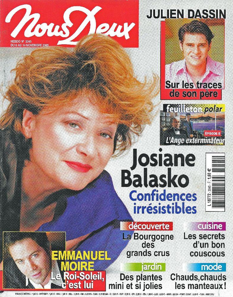 NOUS DEUX Magazine n°3045 2005  Josiane BALASKO  2 Castelnau-sur-Gupie (47)