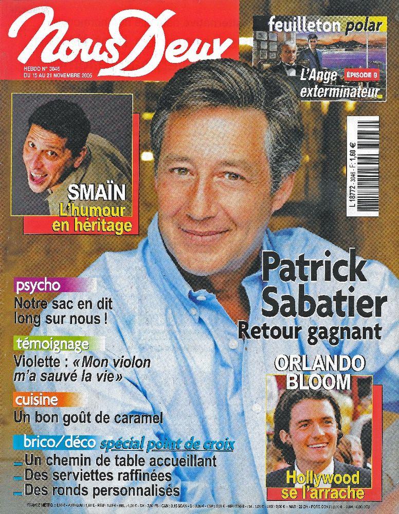 NOUS DEUX Magazine n°3046 2005 Patrick SABATIER Livres et BD