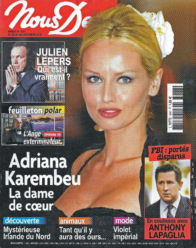 NOUS DEUX Magazine n°3047 2005  Adriana KAREMBEU  2 Castelnau-sur-Gupie (47)