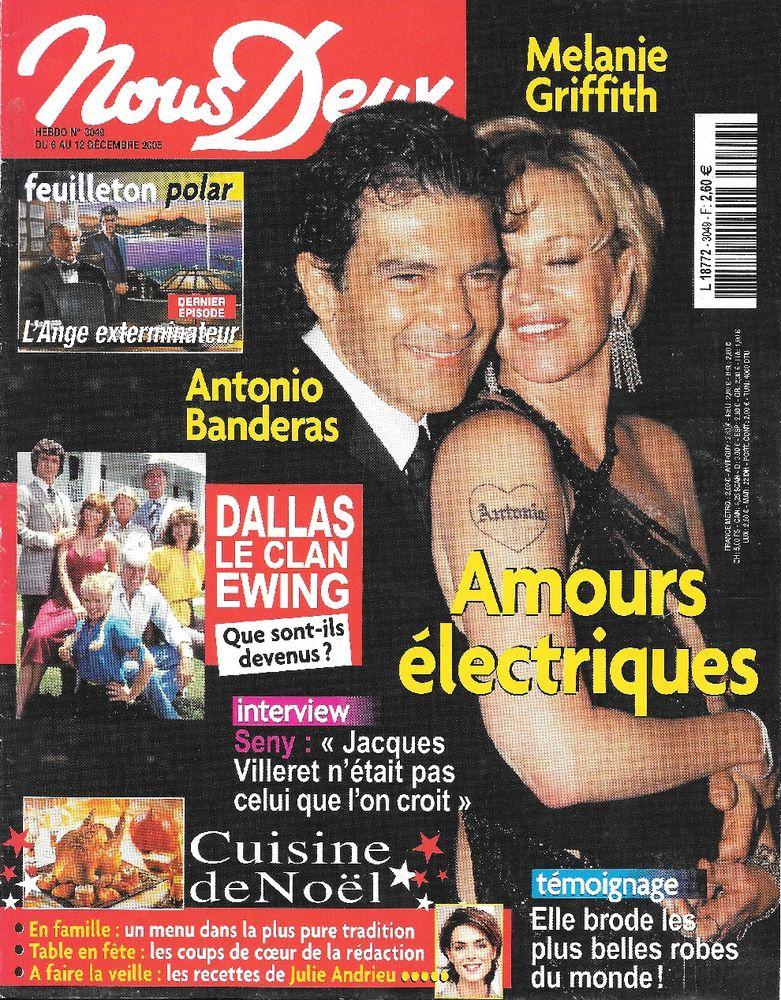 NOUS DEUX Magazine n°3049 2005  Antonio BANDERAS  2 Castelnau-sur-Gupie (47)
