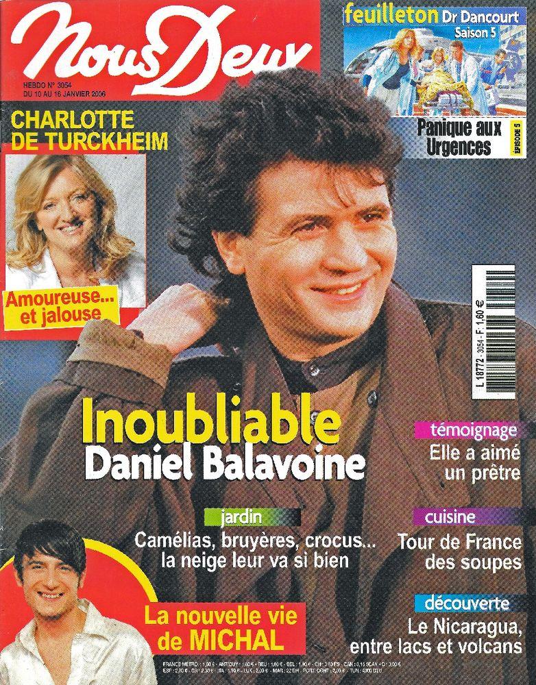 NOUS DEUX Magazine n°3054 2006  Charlotte DE TURCKHEIM  2 Castelnau-sur-Gupie (47)