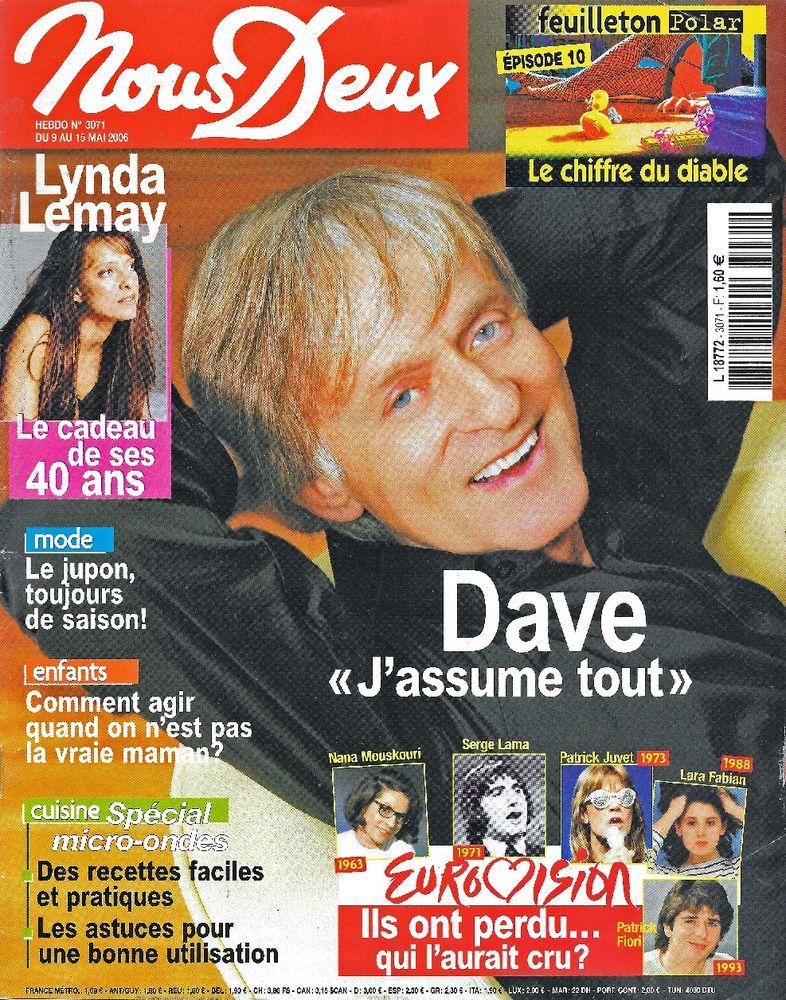 NOUS DEUX Magazine n°3071 2006  Lynda LEMAY  2 Castelnau-sur-Gupie (47)