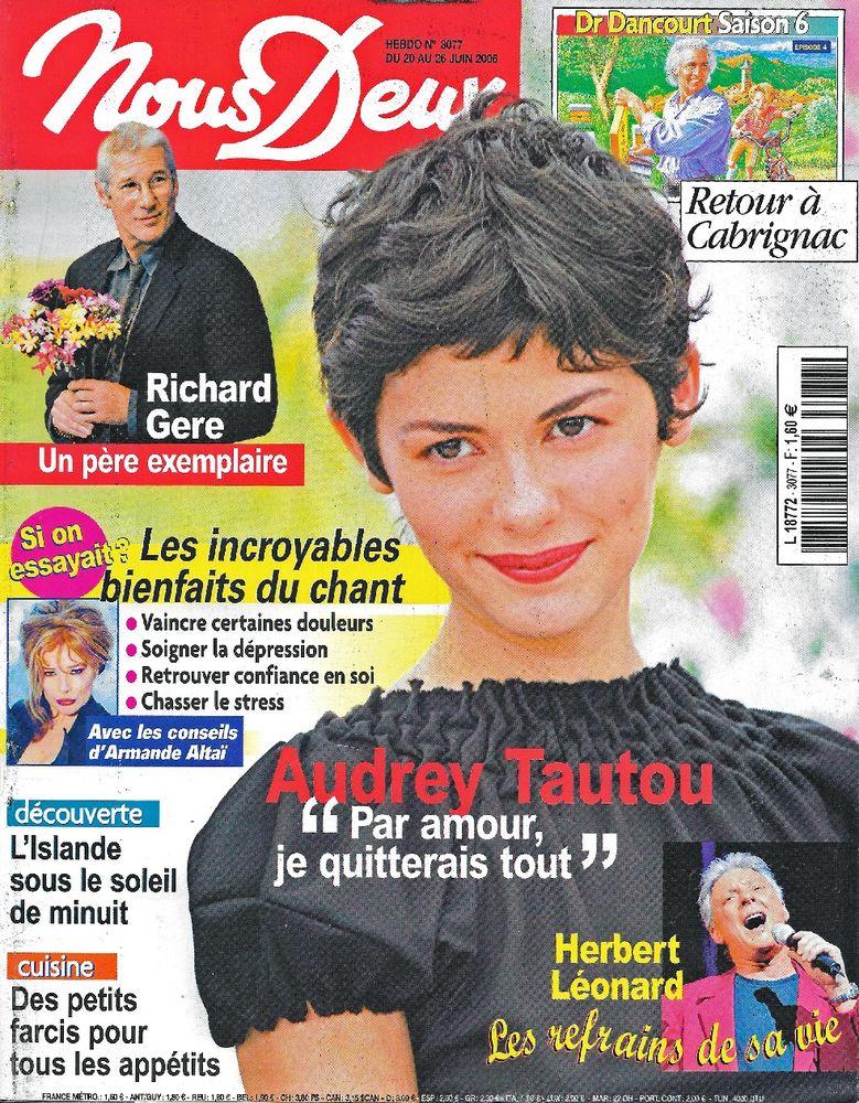 NOUS DEUX Magazine n°3077 2006  Audrey TAUTOU  2 Castelnau-sur-Gupie (47)