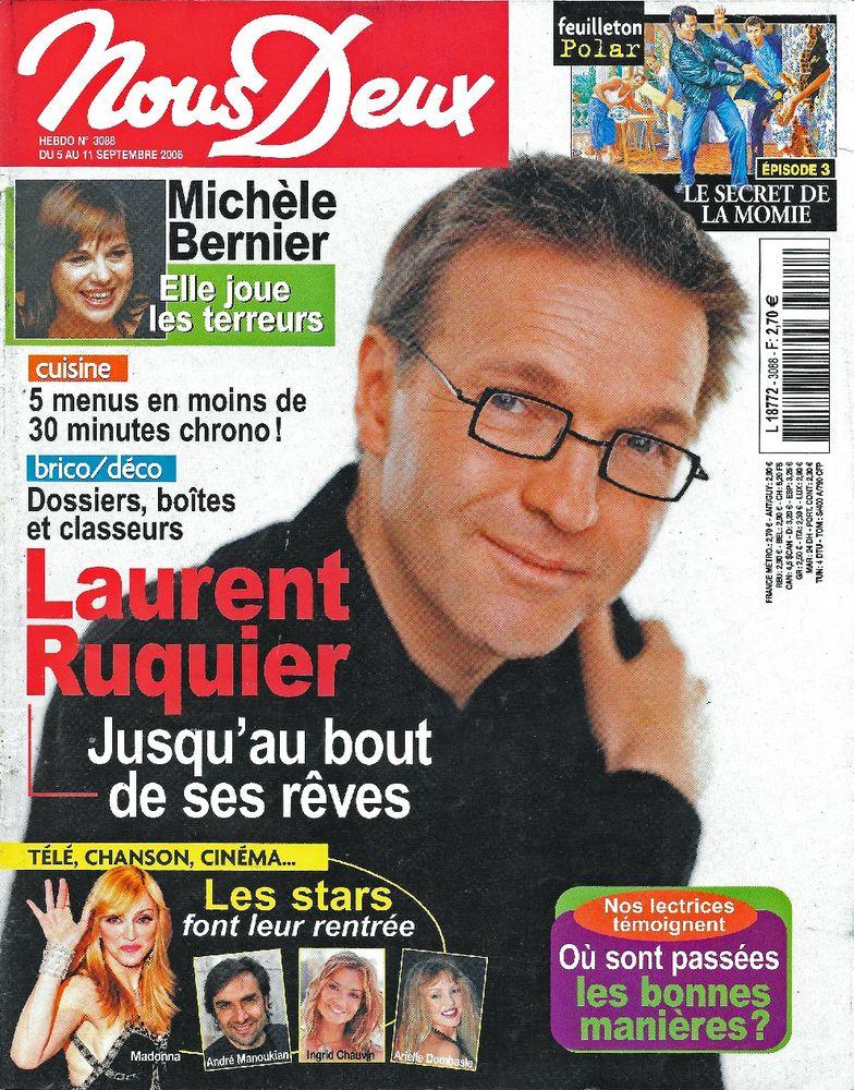 NOUS DEUX Magazine n°3088 2006  Laurent RUQUIER  2 Castelnau-sur-Gupie (47)