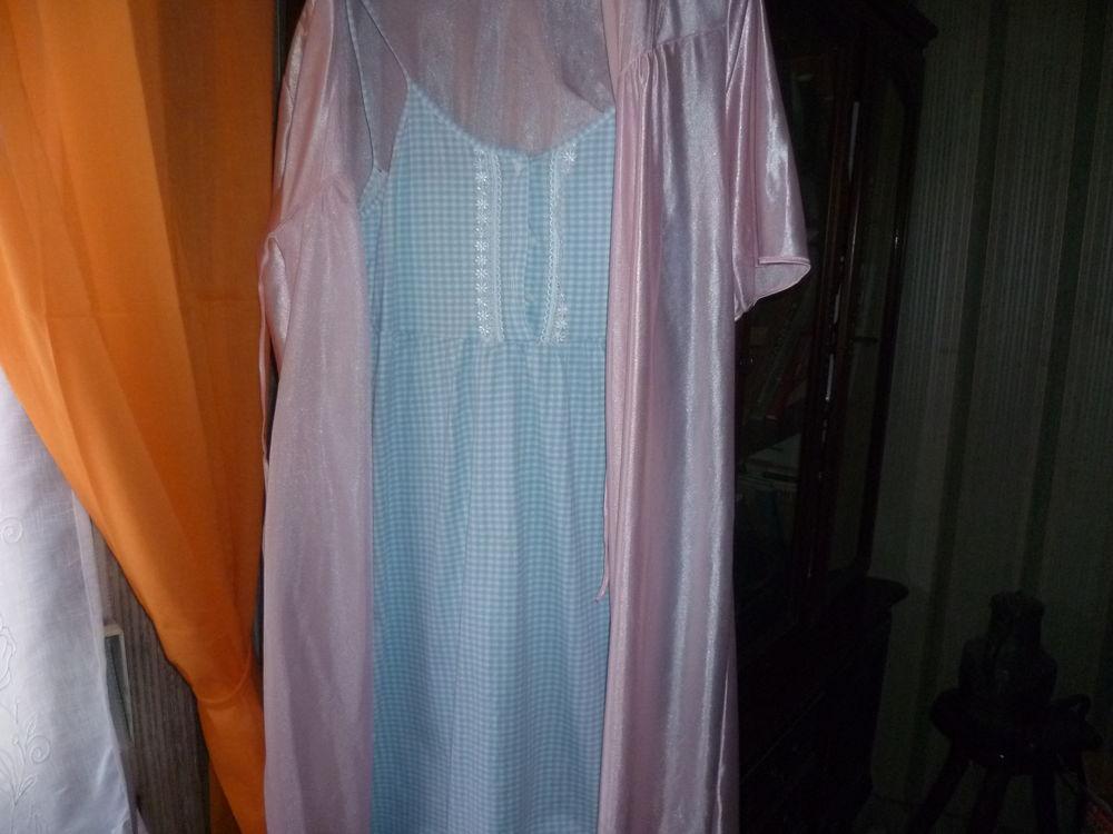 Nuisette privilege vichy bleu et blanc 48 avec déshabillé  15 Saint-Quentin (02)