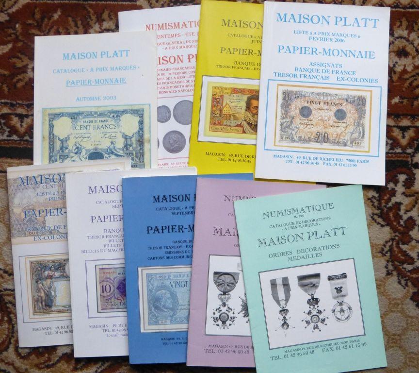 lot  de cat  numismatique albukerque , platt, burgan , etc 59 Raismes (59)