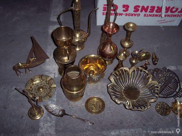 Lot 15 objets DECO en cuivre et laiton 140 Paris 14 (75)
