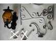 objets vintage + pied et toile de grand parasol - zoe Décoration