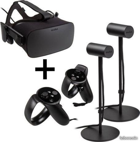 Oculus rift + 3 capteurs + 2 touch +audio+ vr cover+rallonge 380 Baillargues (34)