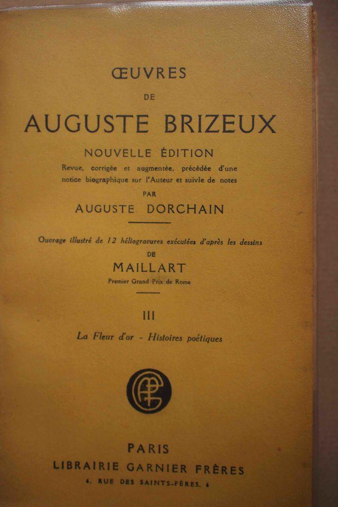 OEUVRES DE AUGUSTE BRIZEUX- III, Livres et BD