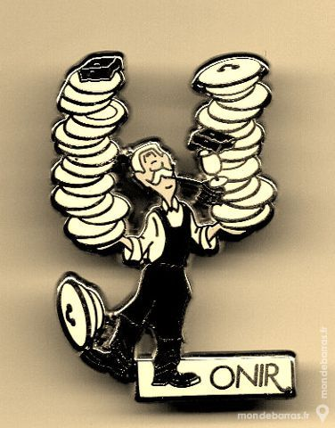 1 Pin's /ONIR/COURTOIS/cuisinier 3 Houilles (78)