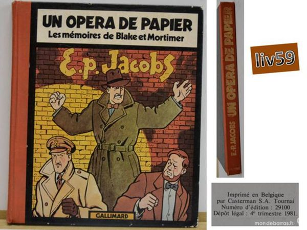 BD: Un Opera De Papier Francis-G Jacobs 80 Mons-en-Barœul (59)