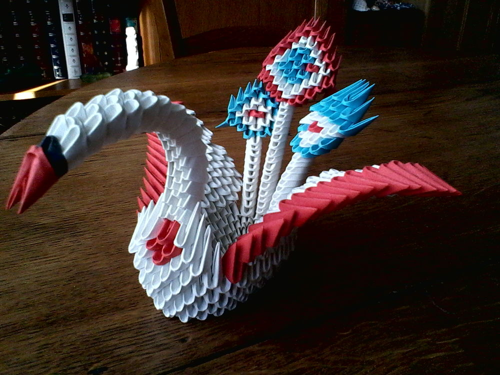 Origami 3d Paons