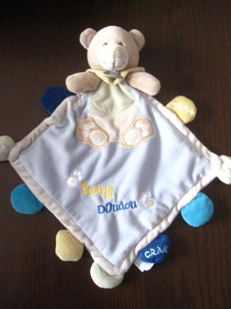 Ours doudou babynat bleu beige 35cm 8 Saint-Jean-Pla-de-Corts (66)