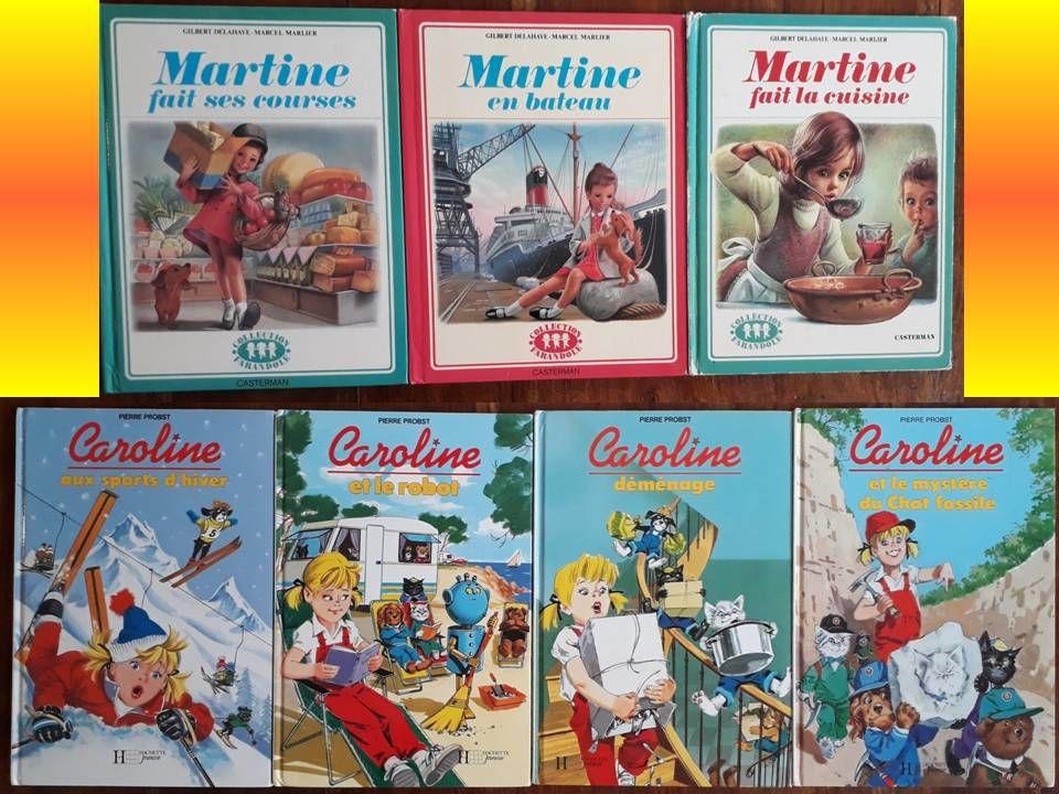 Lot de 7 OUVRAGES ENFANTS soit 4 livres CAROLINE + 3 MARTINE 10 Bondoufle (91)