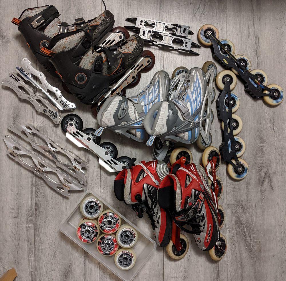 Pack Roller vitesse freeride freeskate roues platines 0 Bezons (95)