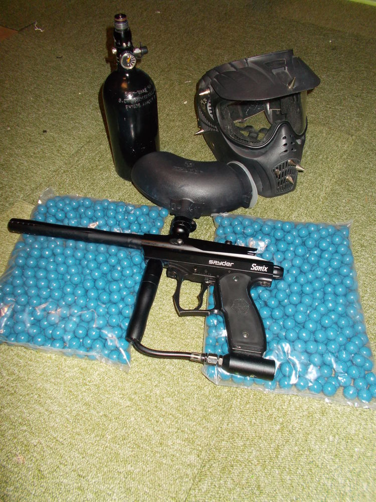 Kit paintball SPYDER SONIX + Btle AIR Sports