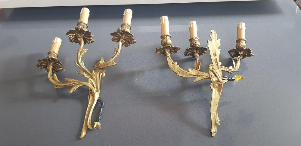 Paire d'appliques en bronze doré style LOUIS XV 110 Draveil (91)