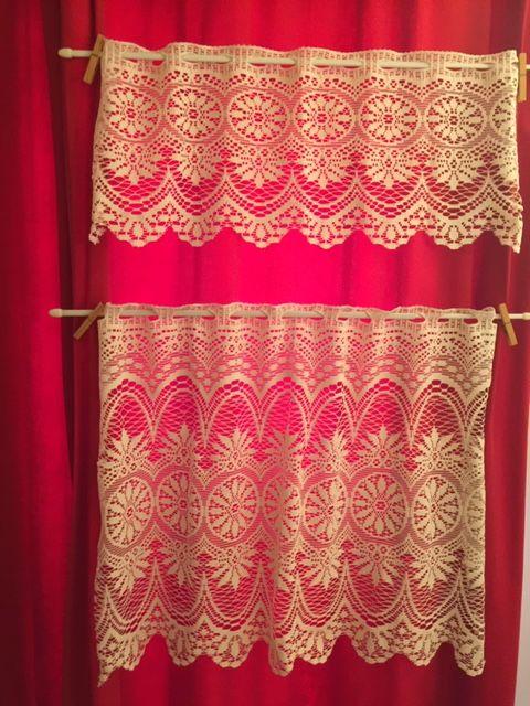 1 Paire de brise-bise (Largeur 90cm) en coton écru 20 Saulx-les-Chartreux (91)