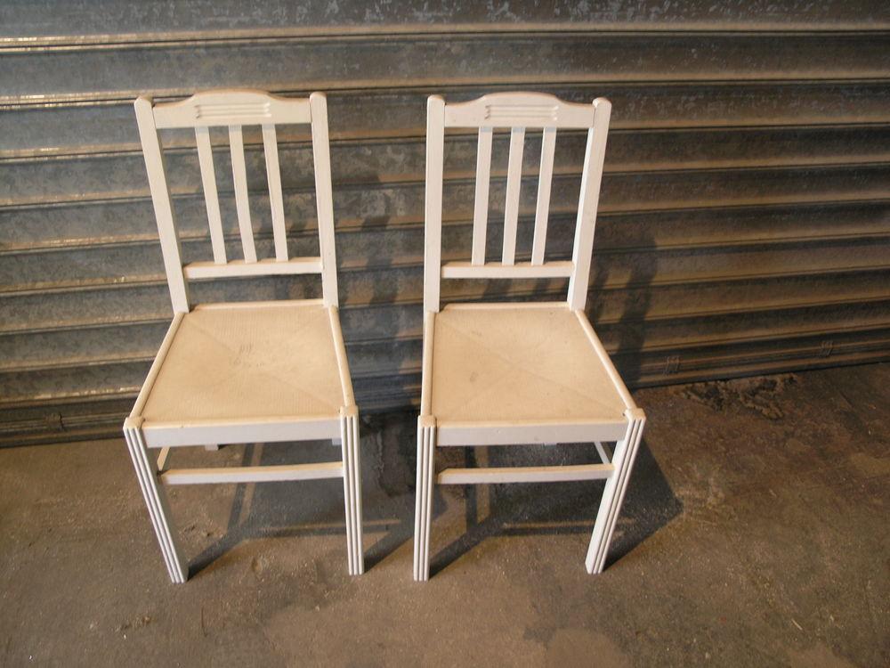 Paire de chaises de cuisines vintages années 50-60 bois  50 Maule (78)