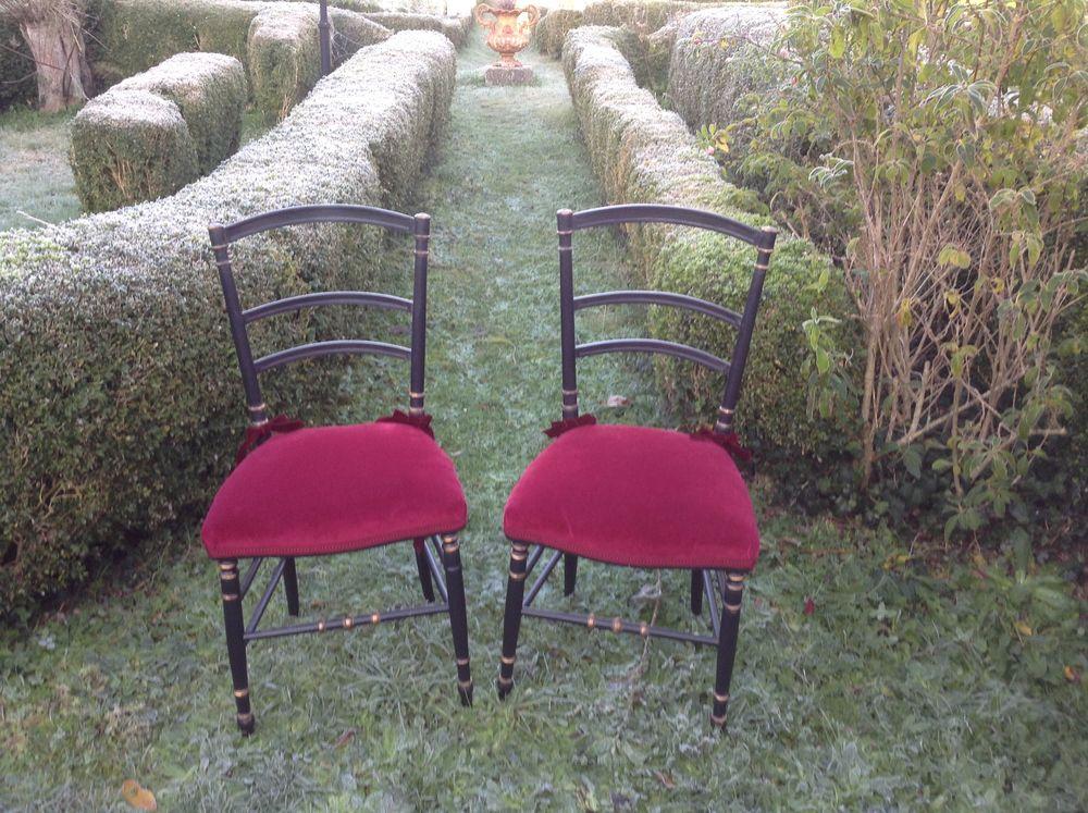 Paire de chaises Napoléon III. Restaurées 200 Saint-Cyr-sur-Morin (77)