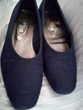 1 paire d'escarpin 'MISS ' en tissus sérigraphie bleu
