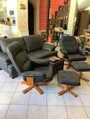 Une paire de fauteuil relax en cuir inclinaison réglable 320 La Crau (83)