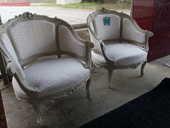 Paire de fauteuils Bergère style Louis XV 490 Toulouse (31)